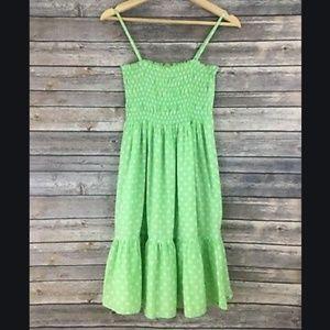 PINK Ruffle Green Dress Coverup Small
